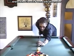 billiard fuck for the hairy male