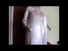 vintage pink satin nightgown