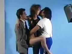 aja retro threesome photo discharge sex