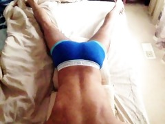 humping pillow in blue ac