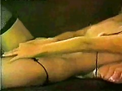 vintage lingerie lady strip and wank!