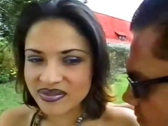 latina d like to fuck gets drilled in the backyard