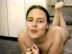 wanking-off on her #15 (classic clip from the