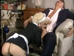 maid woman gives worthwhile blowjob and fuck hard
