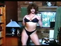 big-haired brunette hair grinds sex tool