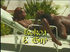 chick ebony slut rolling in the hay