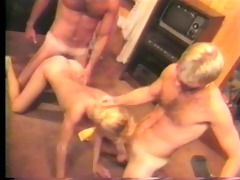 hawt three-some of chaps and a female fucking