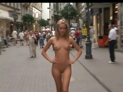 cute blond exposed in public, classic! by