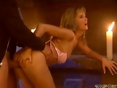sexy little blonde receives screwed by her boy