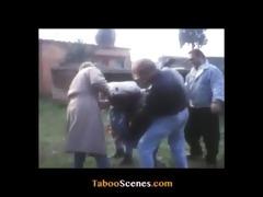 brutal gang bang from vintage porn movie scene