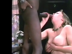 classic large darksome dick &; busty brunette
