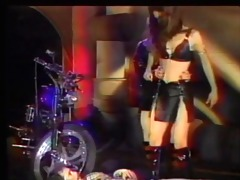 latex biker babes punish submissive stud