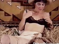 vintage porn - hairy young cowgirl has sex
