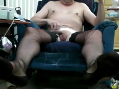 vintage dark ff stockings and double cum!