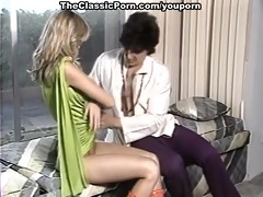 retro golden-haired bent over and owned