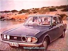 greek pair copulates hard on the beach