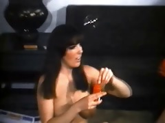 five vintage nudist sweethearts playing around