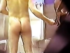 spycam in a mans locker room (old movie from the