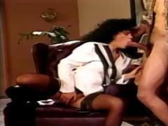 hawt latin business woman milks her darksome cock