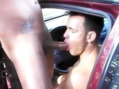 hot hunks having public interracial fun