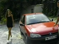 skinny maria roswitha in red fucked outside