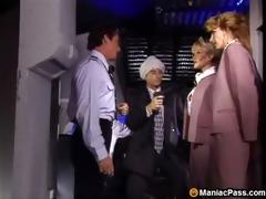 hawt flight attendants threesome