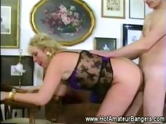 mature with pierced love tunnel receives fucked