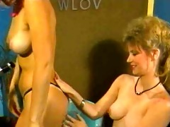 classic girl-girl scene. gail sterling vs nina