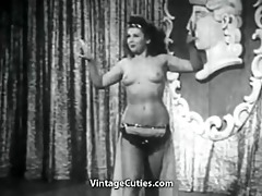 busty playgirl shakes her tits onstage