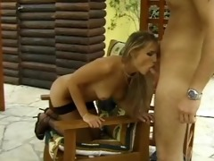 well shaped blondie getting fucked right into an