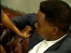 black boss sexing the secretary