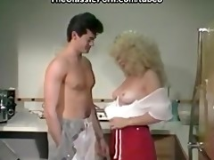 horny quickie from the blond nurse
