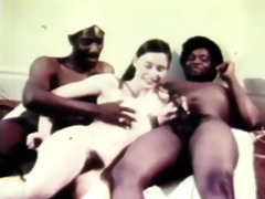 hungry retro three-some fucking