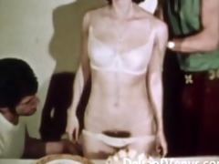 vintage porn 1970s bushy muff brunette cheerful