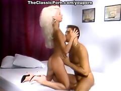 blonde fur pie massaged by stick