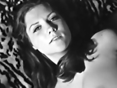 lady shows all 85 (black and white vintage)