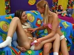 teenage girls love to handicraft.