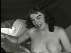 vintage lady disrobe on bed (camaster)