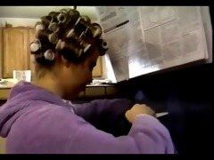 classic cunt in curlers receives hubbys attention