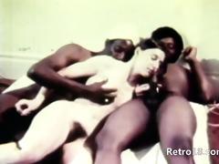sexy retro trio havingsex