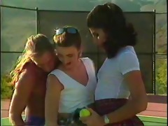 a tennis lesson turns into a sexy some