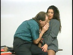 big boob tiziana redford receive fucked in office