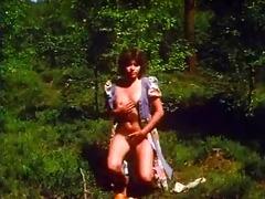 retro - girl masturbates outdoor