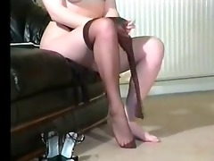 sexy british breasty hose teaser